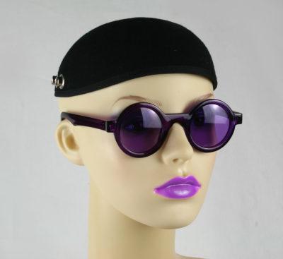 round purple sunglasses purple lensHi Tek HT-005