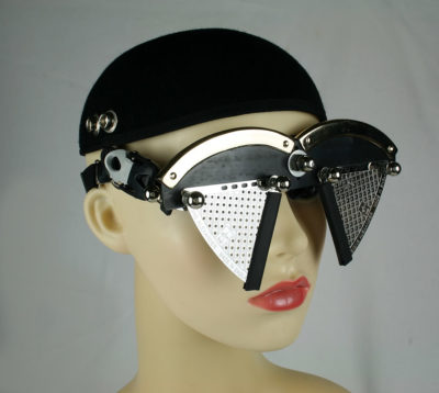 handmade futuristic modern steampunk eye wear mask Hi Tek