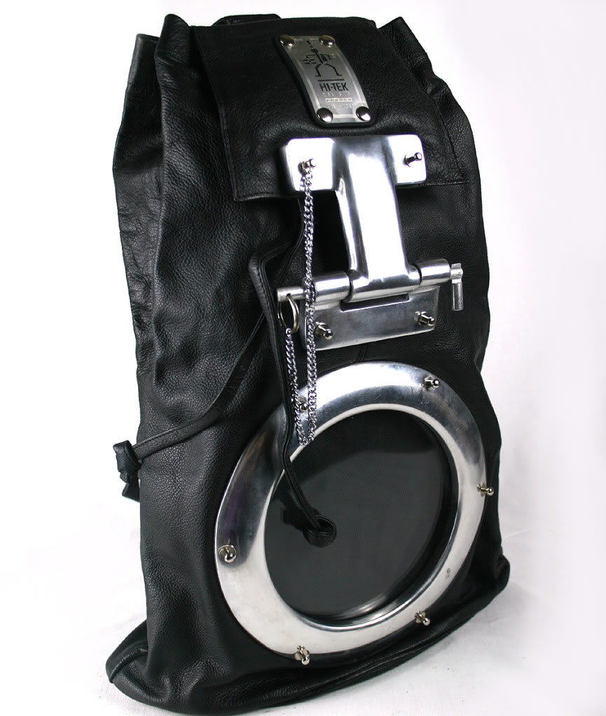 Hi Tek Mens Leather Bag Backpack Rucksack Unusual Unique