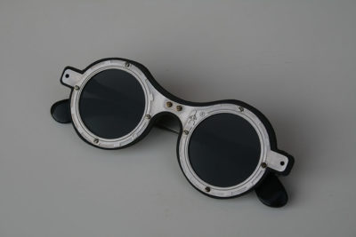 ***SOLD OUT*** Hi Tek round silver metal sunglasses cult-10 handmade unusual