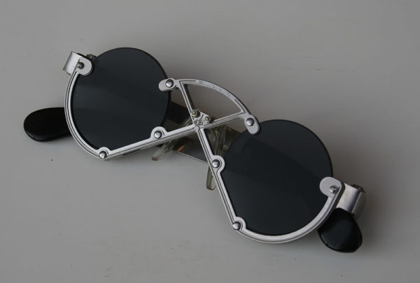 Hi Tek round silver metal sunglasses cult-11 handmade unusual