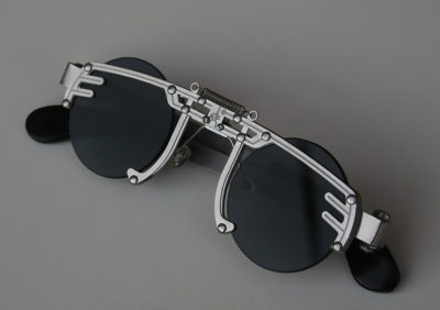 Hi Tek round silver metal sunglasses cult-12 handmade unusual unique