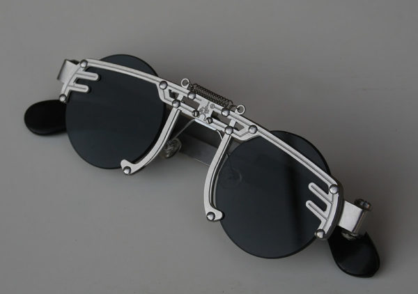 ***SOLD OUT*** Hi Tek round silver metal sunglasses cult-12 handmade unusual unique