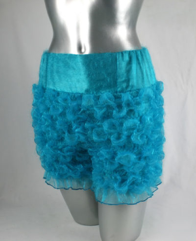 turquoise ruffled pants modern Victorian steampunk knickers bloomers Burlesque HI TEK size S