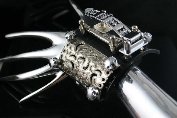 unusual design steampunk wrist watch cuff Hi Tek Alexander HTSTW038