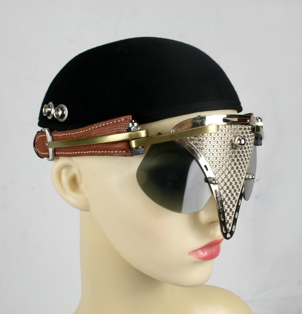 Handmade Sunglasses  handmade futuristic modern steampunk sunglasses eye wear hi tek