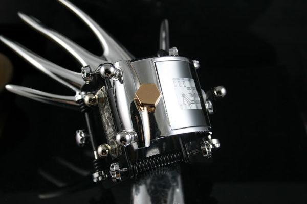 Handmade Steampunk retro futuristic cuff watch Hi Tek HTSTW050