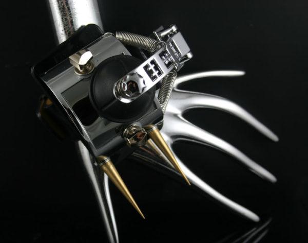 Handmade retro futuristic Steampunk watch cuff Hi Tek HTSTW060