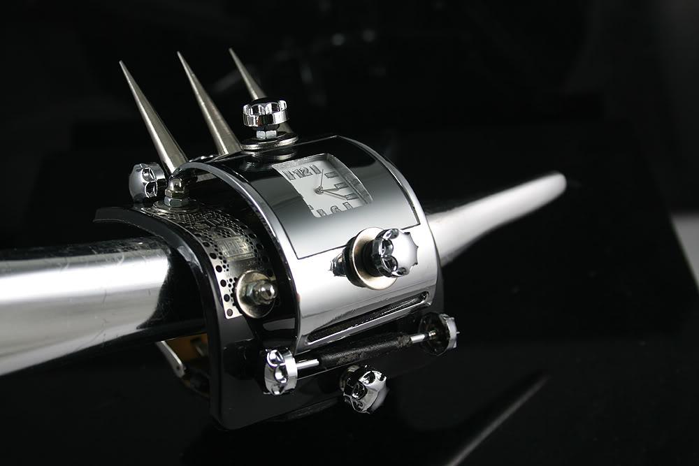 Hi Tek unisex Steampunk watch cuff unusual HTSTW029B