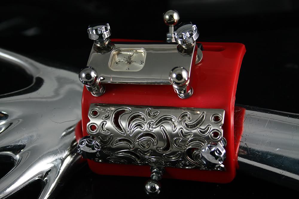 unusual design steampunk wrist watch cuff Hi Tek Alexander HTSTW038B