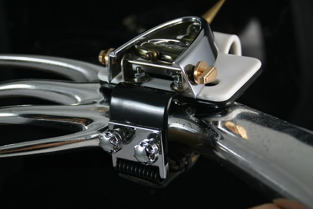 Handmade Steampunk heart shaped cuff watch with spike  Hi Tek