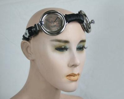 motorcycle aviator retro futuristic Steampunk Goggles mask Hi Tek