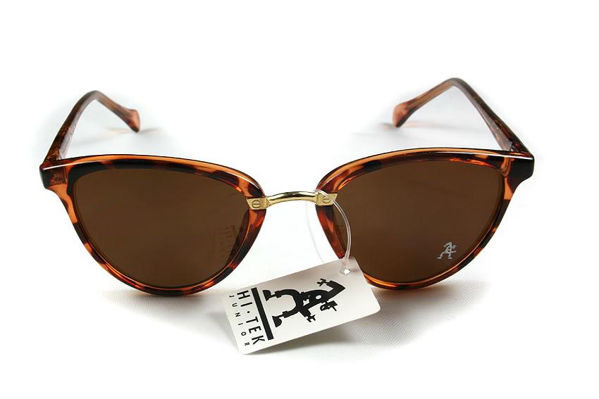 Retro cat eye sunglasses black frame black lens Hi Tek model HT-5556