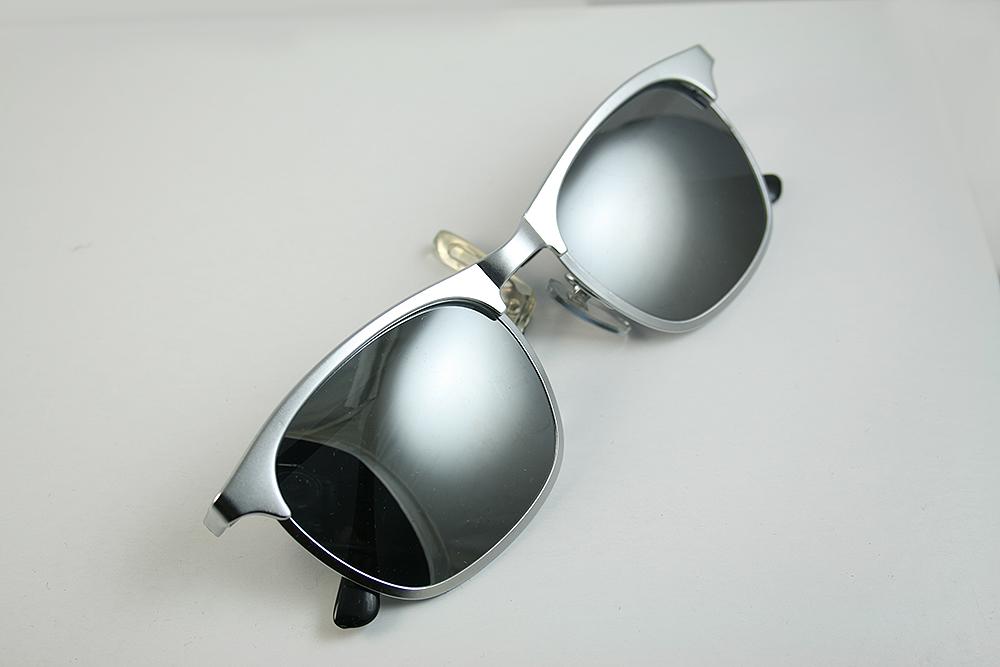 metal wayfarer sunglasses  square silver metal sunglasses polarized lenses wayfarer Hi Tek HT ...