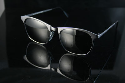 square silver retro sunglasses polarised lenses Hi Tek  HT-8642