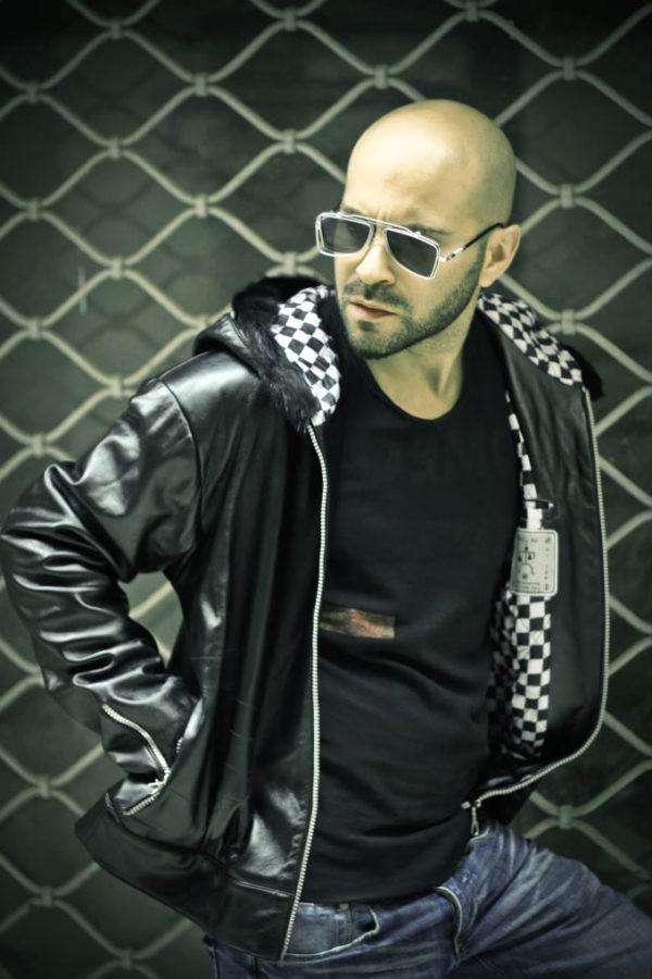 black leather bomber jacket for men with hood hoodie Hi Tek