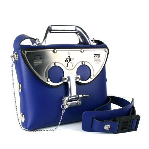 blue shoulder bag