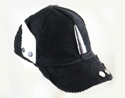 black wool baseball cap HI TEK unusual unique