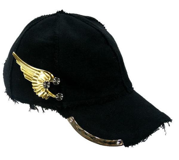 unisex black wool baseball cap HI TEK unusual unique hip hop rapper