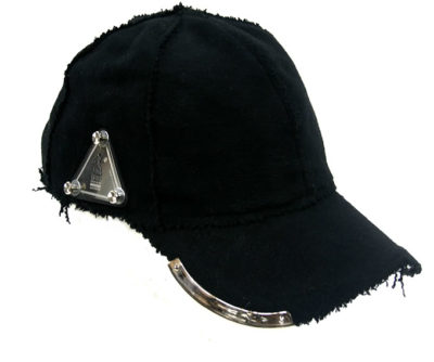 black wool baseball cap HI TEK unusual unique hip hop rapper