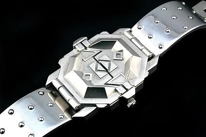 vintage unisex futuristic steampunk wrist watch Hi Tek Alexander