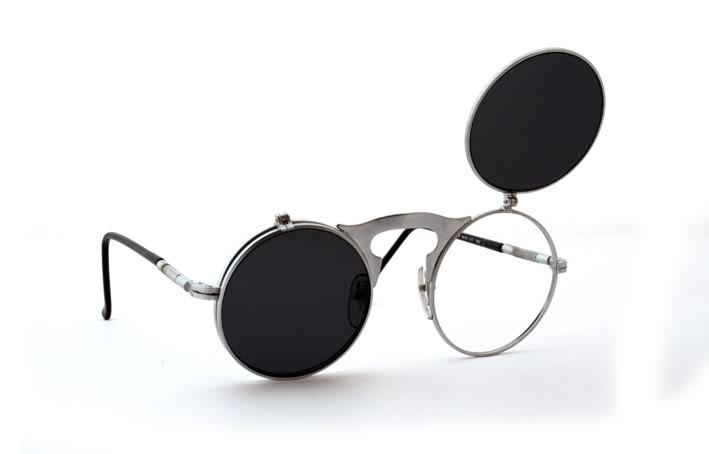 round flip up Steampunk sunglasses