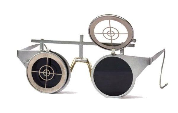 round Goth Steampunk sunglasses flipups unusual Hi Tek
