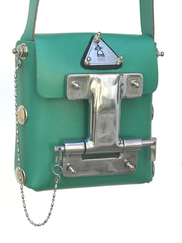 green leather crossbody bag