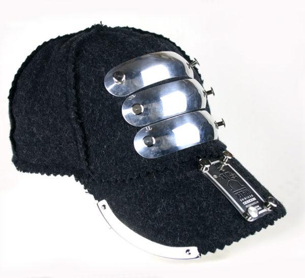 grey wool baseball cap HI TEK unusual unique