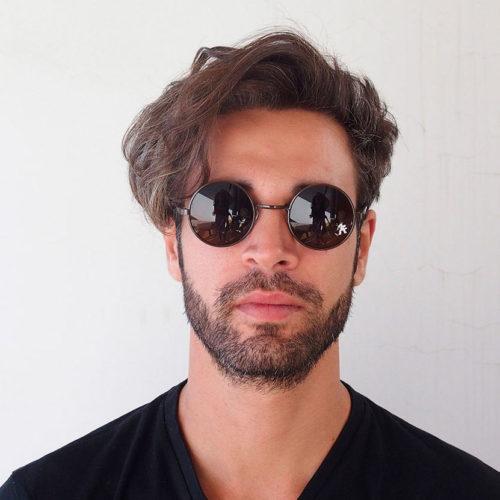 round brown sunglasses