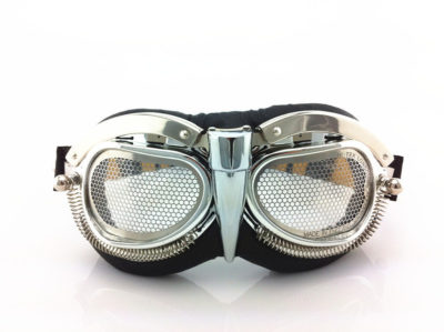 unusual retro futuristic steampunk goggles in entertainment article