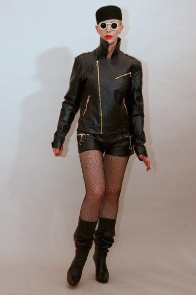 black leather jacket for women biker HI TEK all sizes