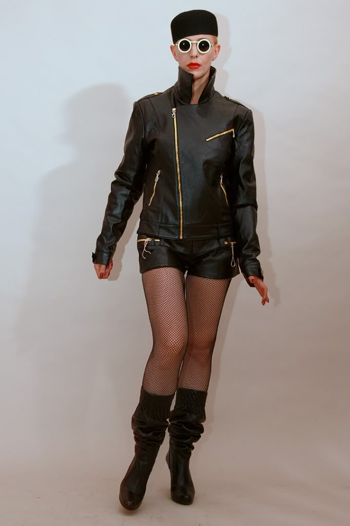 black leather jacket for women biker HI TEK all sizes