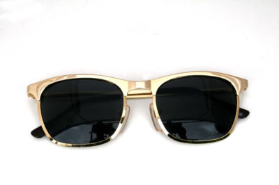 square gold metal sunglasses wayfarer Hi Tek  HT-8642