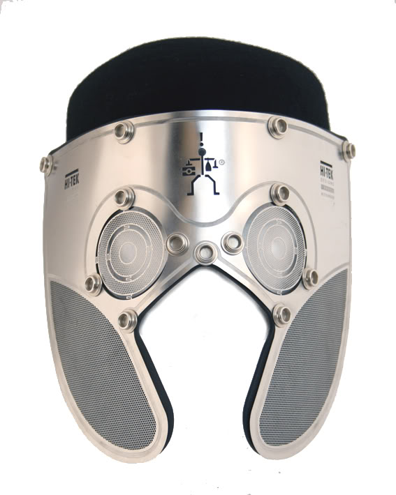 stainless steel mask hat Hi Tek London Alexander