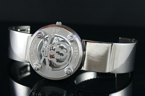 Hi Tek Alexander unisex watch unusual unique Goth cyberpunk Skull