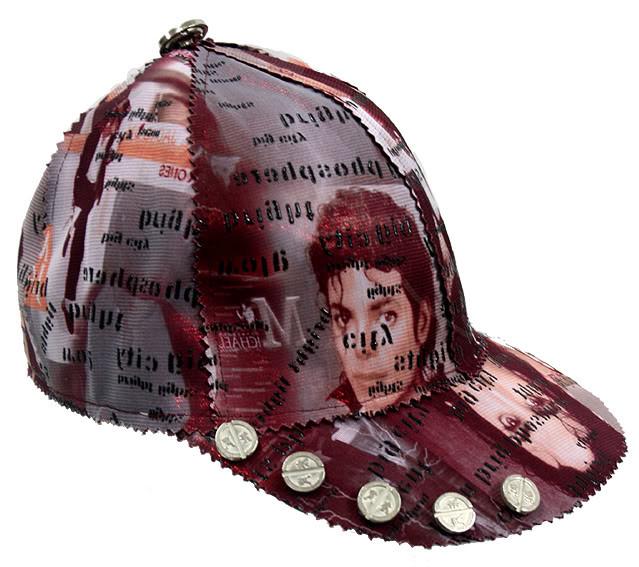 Michael Jackson print baseball cap HI TEK unusual