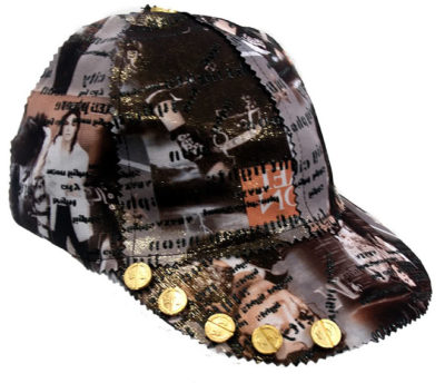 baseball cap Michael Jackson print HI TEK unusual unique