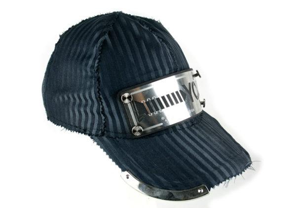 unisex pin striped baseball cap Hi Tek Alexander unusual unique