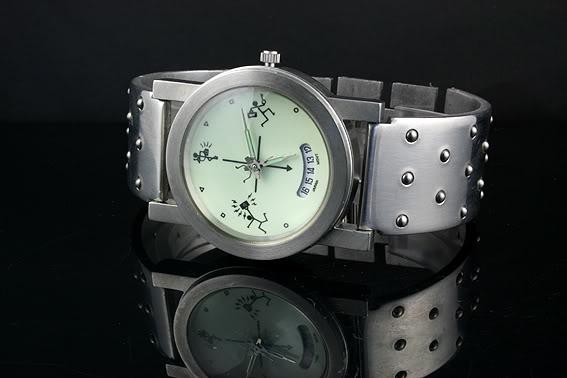 Mens stainless steel watch Hi Tek Alexander unusual unique