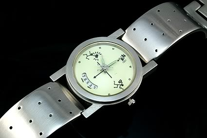 Vintage Hi Tek Alexander Mens watch stainless steel case fluorescent face night glow