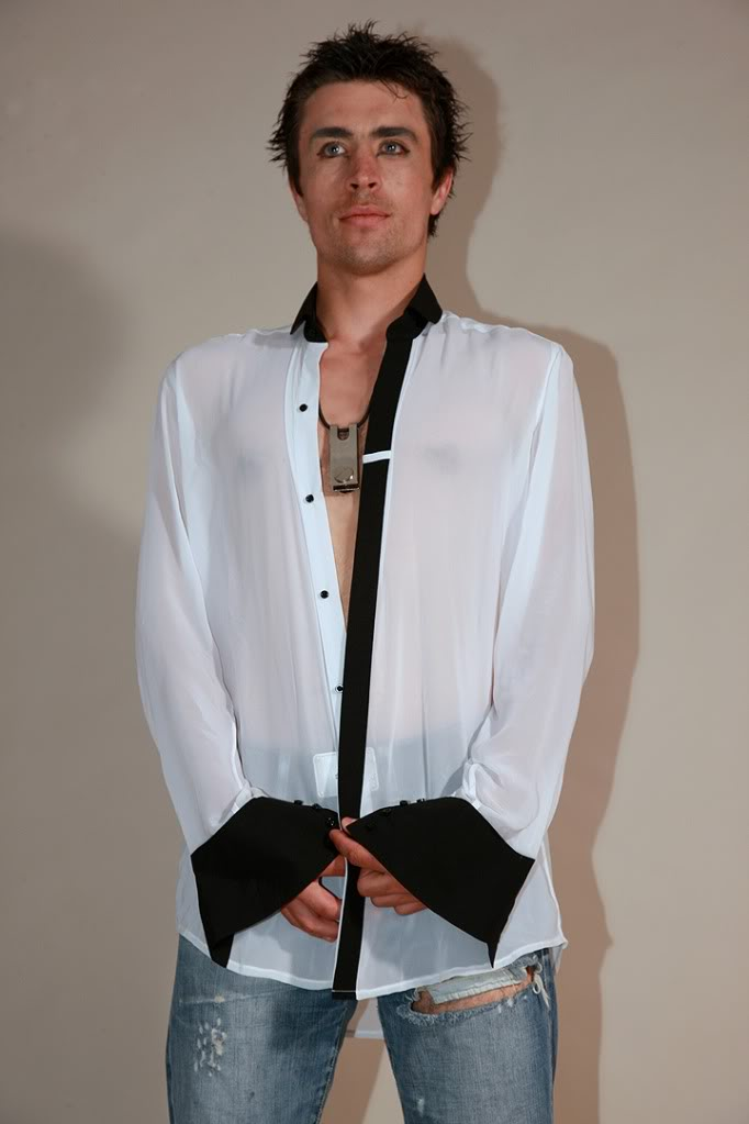 mens white silk dress shirt with black collar and cuff asymmetric ...