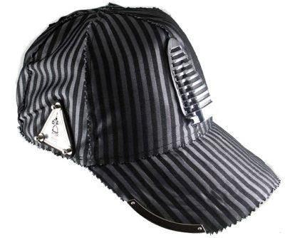 unisex pin striped baseball cap Hi Tek Alexander unusual unique