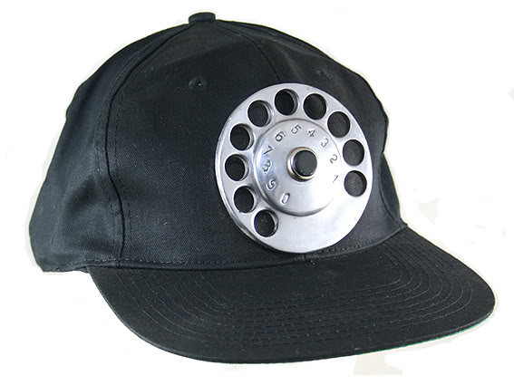 black cotton baseball cap HI TEK UNUSUAL UNIQUE
