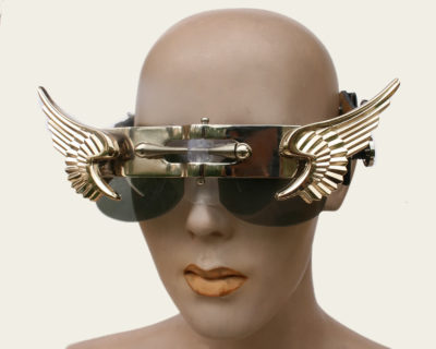 handmade futuristic modern steampunk gaga eye wear Hi Tek