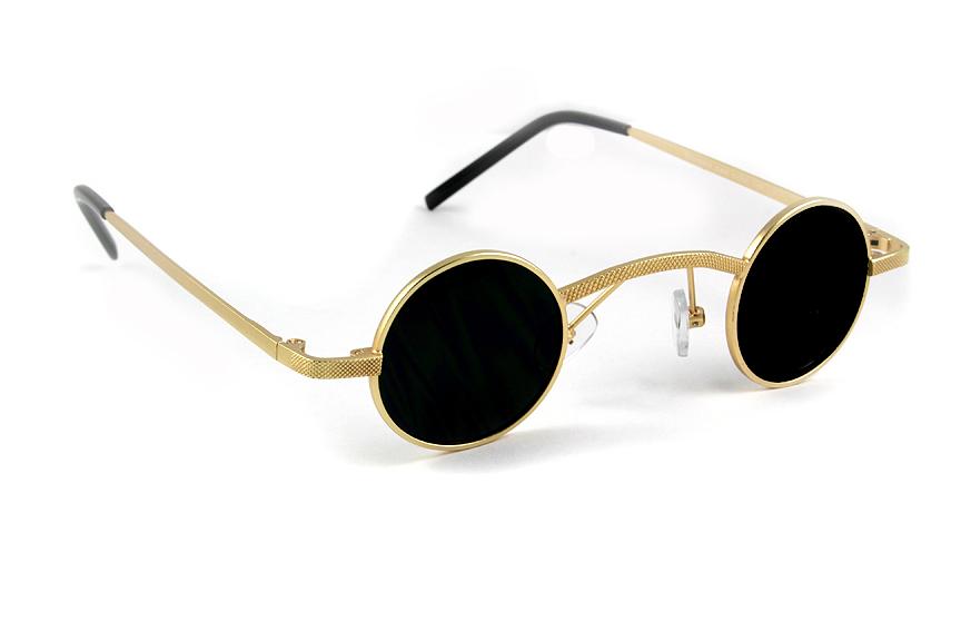 89de41c3e round gold metal sunglasses retro Victorian Goth Steampunk polarized lens Hi  Tek Alexander