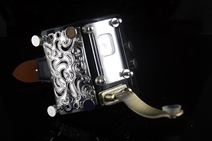 Handmade Steampunk retro futuristic cuff watch Hi Tek HTSTW005