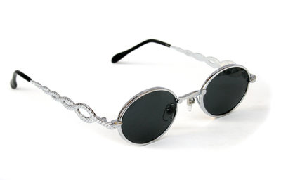 oval sunglasses Retro Goth Vampire Steampunk sunglasses unusual temples snake design