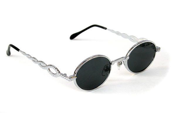 oval sunglasses Retro Goth Vampire Steampunk sunglasses unusual temples snake design