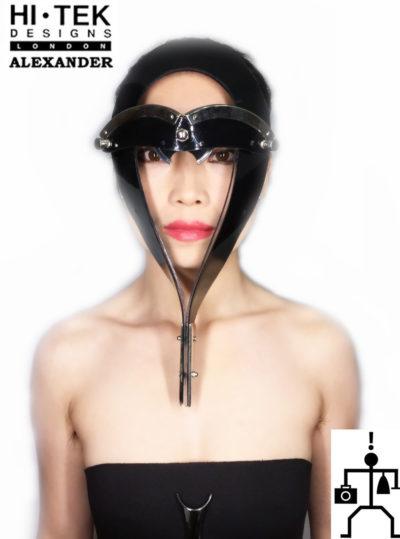 Hi Tek Alexander handmade futuristic modern futuristic, sci fi ,steampunk  unusual party Egypt Pharaoh style eyewear mask hat
